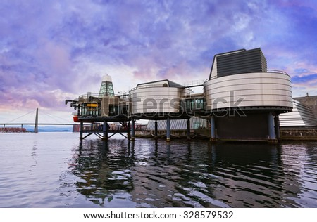 Oil Industry Museum in Stavanger Norway - technology and travel background - stock photo