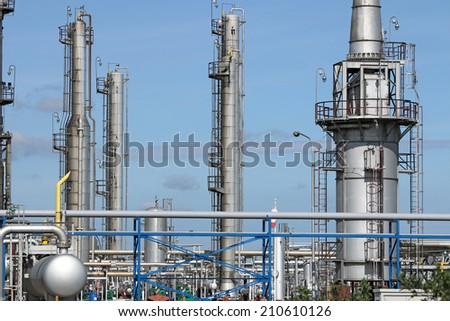 oil industry petrochemical plant  - stock photo
