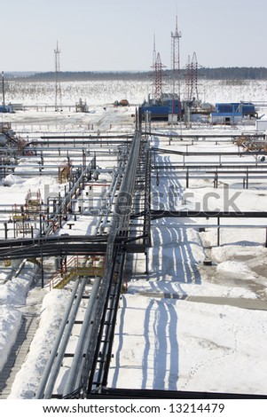 Oil industry. Refinery center in west Siberia - stock photo