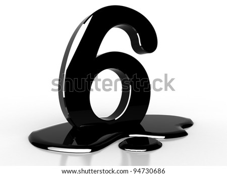 oil 6 number - stock photo
