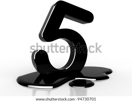 oil 5 number - stock photo