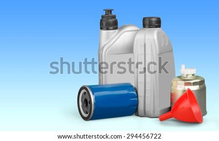 Oil, Oil Change, Oil Filter. - stock photo