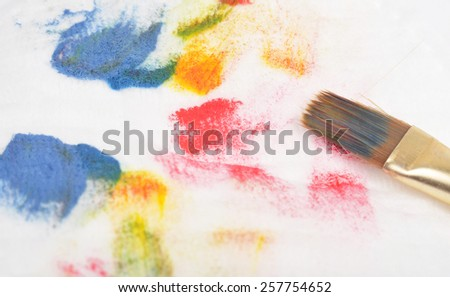 Oil paint brush strokes - stock photo