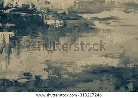 Oil paint texture. Grunge black and white background. Fragment of artwork Abstract art background. Oil painting on canvas. Brushstrokes of paint. Modern art. Contemporary art. - stock photo