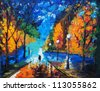 Oil Painting - Dating Tonight - stock photo