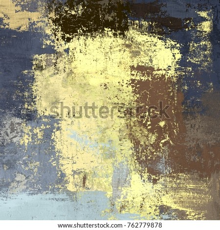 Oil Painting On Canvas Handmade Abstract Stock Illustration ...