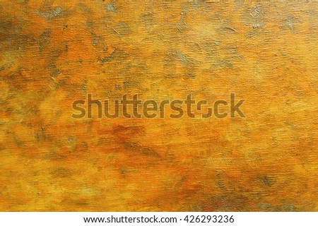 Oil painting on canvas vivid orange brown abstract background with brush strokes texture. Art concept. - stock photo