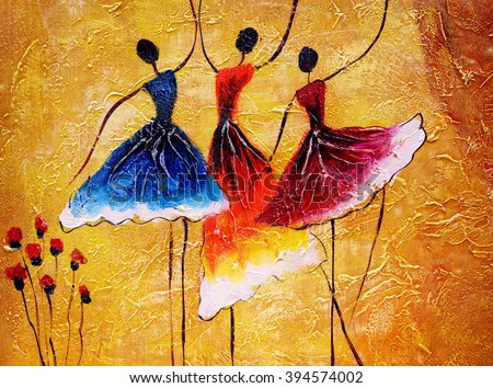 Oil Painting - Spanish Dance