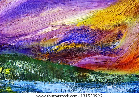 Oil painting texture. Abstract background. - stock photo