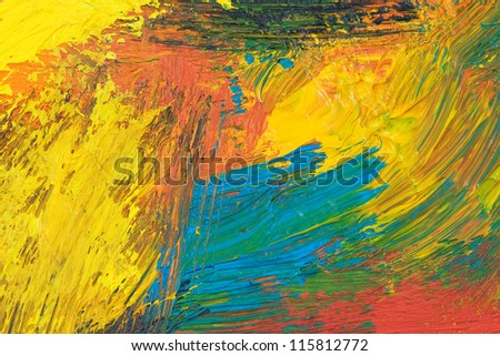 oil paints as background texture - stock photo