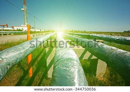 Oil pipeline  - stock photo