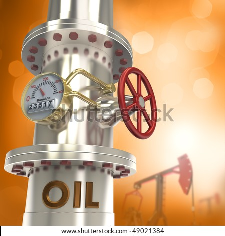 Oil pipeline - concept - stock photo
