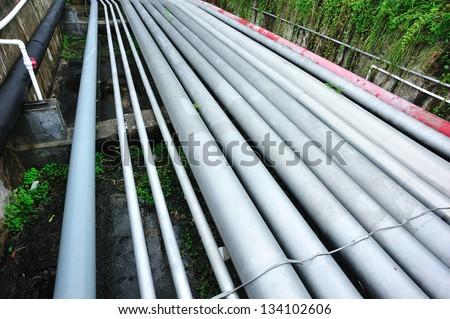 oil pipelines - stock photo
