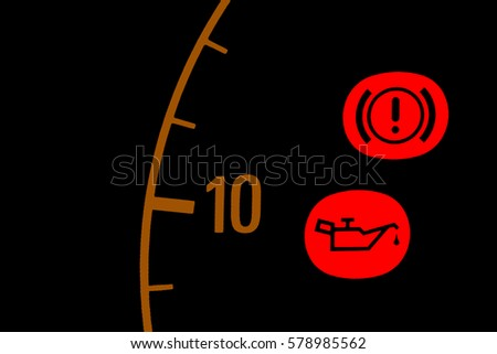 Oil Warning Light Stock Images RoyaltyFree Images  Vectors - Car sign on dashboard