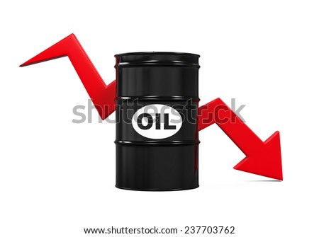 Oil Prices Dropping Illustration - stock photo