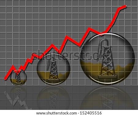 Oil Production Growing in America. - stock photo