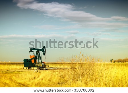 Oil Pump-jack - stock photo