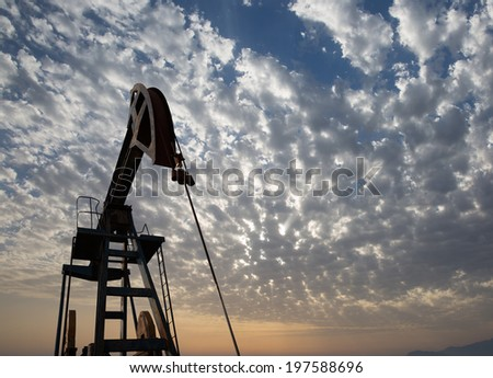 Oil pump. Oil industry equipment - stock photo