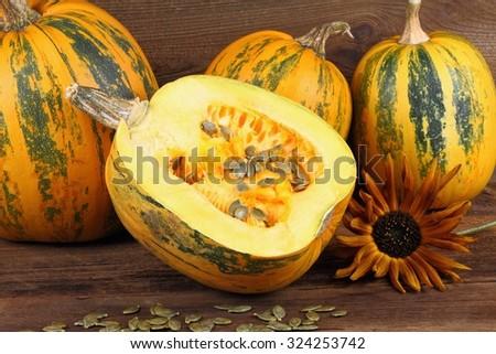 Oil pumpkin seeds  - stock photo