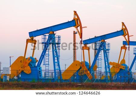 oil pumps - stock photo