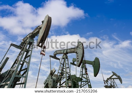 oil pumps - stock photo