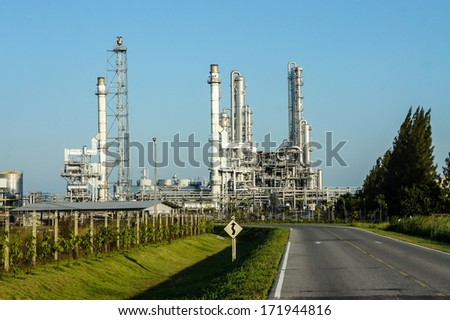 Oil refinery - stock photo
