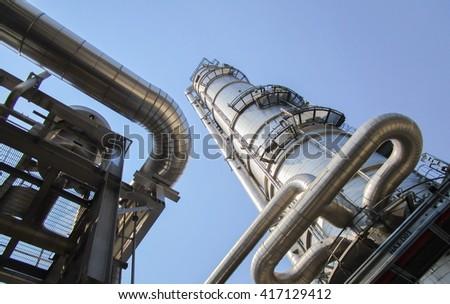 Oil refinery  - stock photo