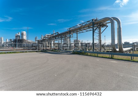oil refinery at the Maasvlakte, the Rotterdam harbor area