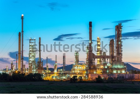Oil refinery in thailand