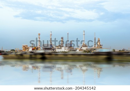 Oil refinery or petrochemical industry in thailand.Edit Reflections effects