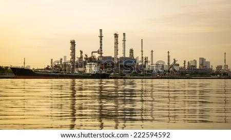 Oil refinery or petrochemical industry in thailand. for Logistic Import Export background