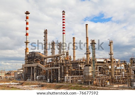 oil refinery petrochemical  chemical industry fuel distillation of petrol industrial plant