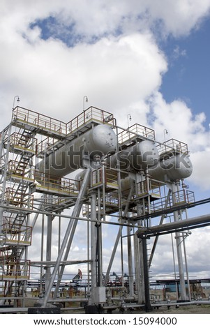 Oil refinery station in West Siberia - stock photo