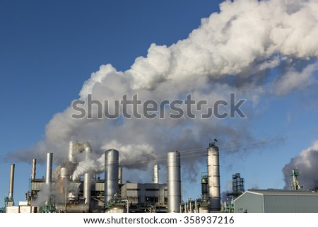oil refinery structure - stock photo