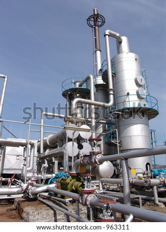 Oil refining installation