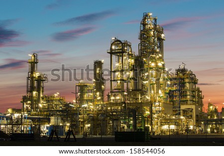 Oil revinery Schwechat in Austria - stock photo