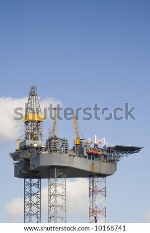 Oil rig 3 - stock photo