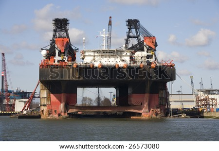 Oil rig - stock photo