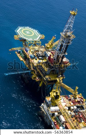 Oil Rig 3 - stock photo
