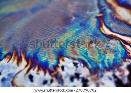 Oil Slick close up - abstract background - stock photo