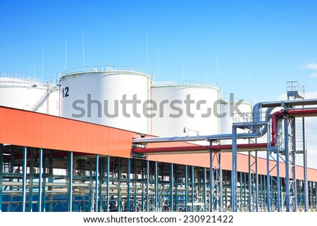 Oil storage industrial park - stock photo