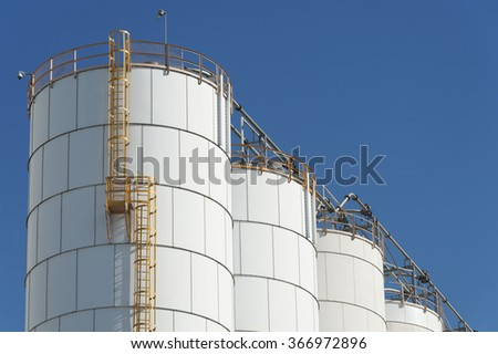 Oil Tank in Chemical Factory  - stock photo
