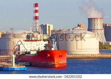 Oil tanker - stock photo