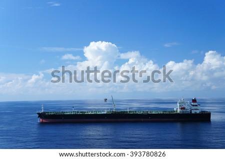 Oil Tanker on sunny day - stock photo