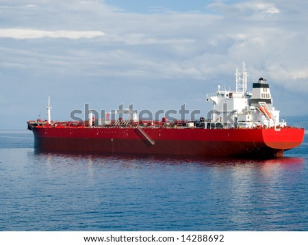 Oil tanker waiting for a docking
