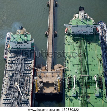 Oil tankers - stock photo