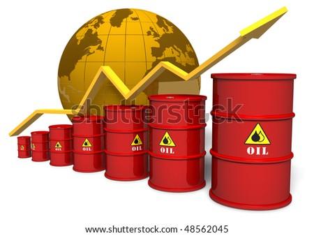 Oil trading concept - stock photo