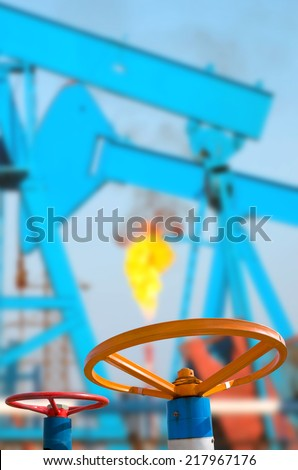 Oil Valves - stock photo