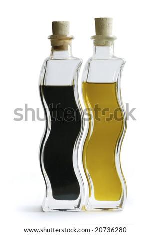Oil & Vinegar Bottles - stock photo