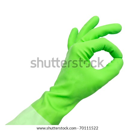 Ok from cleaning - stock photo